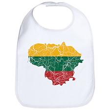 Lithuania Flag And Map Bib