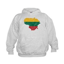 Lithuania Flag And Map Hoodie