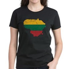 Lithuania Flag And Map Tee