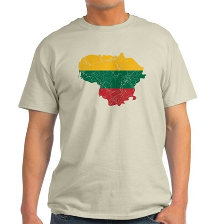 Lithuania Flag And Map Light T-Shirt