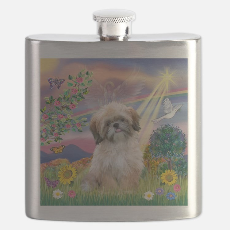 Cloud Angel & Shih Tzu Flask