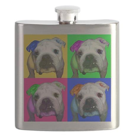 Pop Bulldog Flask