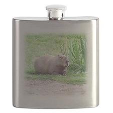 Capybara Laying Down Flask