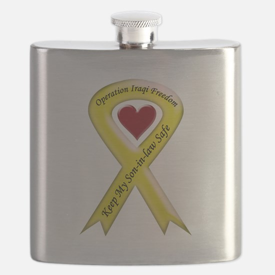 Yellow Ribbon Son-in-law Flask