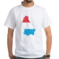 Luxembourg Flag And Map Shirt