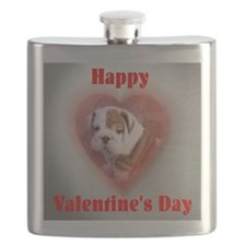 Funny Bulldogsworld Flask