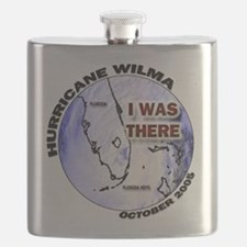 FL Satellite Hurricane Wilma Flask