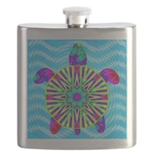 Colorful Sea Turtle Flask