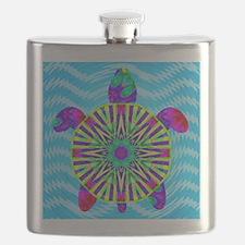 Colorful Sea Turtle Flask