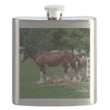 """clydesdale horses""Flask"