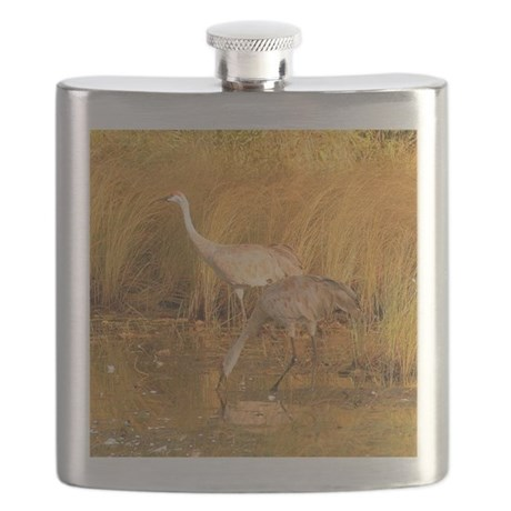Sandhill Crane Flask