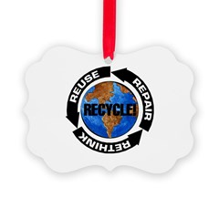 Recycle World Picture Ornament