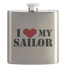 I Love My Sailor Flask