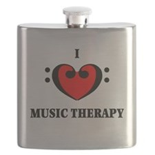 I Luv Music Therapy Flask