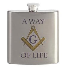 A Way of Life Tile Flask