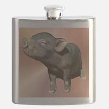 """Pot Belly Pig #1"" Flask"