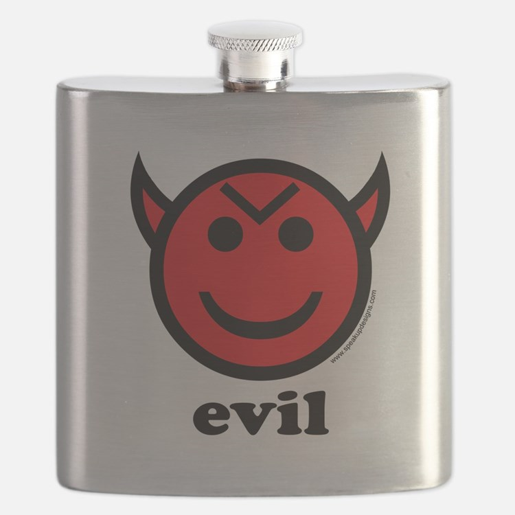 Evil Smiley Devil & Horns Flask