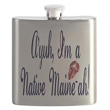 Ayuh - Native Maine-ah! Flask
