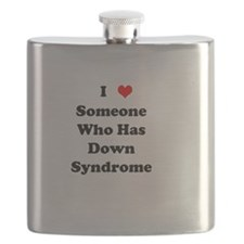 Down Syndrome Love Flask