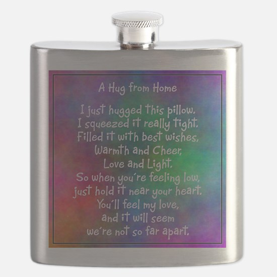 Hug from Home (watercolor light) Flask