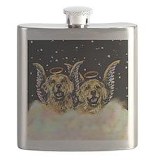 Golden Retiever Duo Flask