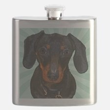 Dachshund Pop Art Flask