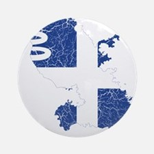 Martinique Flag And Map Ornament (Round)