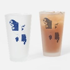 Martinique Flag And Map Drinking Glass