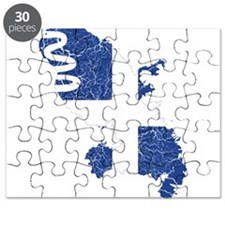 Martinique Flag And Map Puzzle
