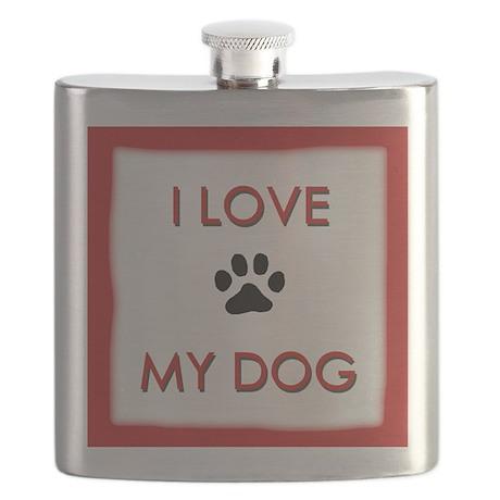 I Love My Dog Flask