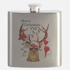 Smoking Redneck Christmas Flask