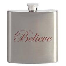 Red Believe Flask