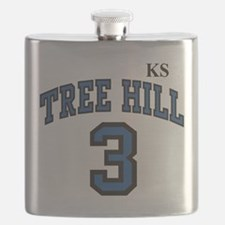 Funny Raven one tree hill Flask