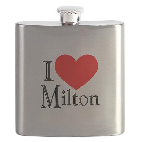 I Love Milton Flask