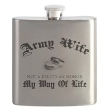 Army Wife: It's an Honor Flask