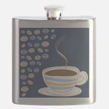 Retro Coffee Art Flask