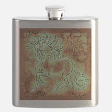 """Abundante"" Flask ~ Patina Copper"