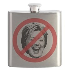 No To Hillary Flask