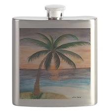 Sunset Palm Beach Flask