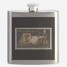Pharmacist Stamp Collecting Flask