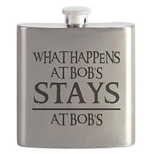 STAYS AT BOB'S Flask