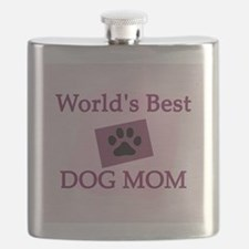 World's Best Dog Mom Flask