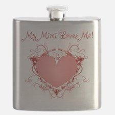 My Mimi Loves Me Heart Flask