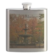 Autumn in Madison - The Fountain - Flask