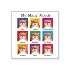 "Many Moods Square Sticker 3"" x 3"""