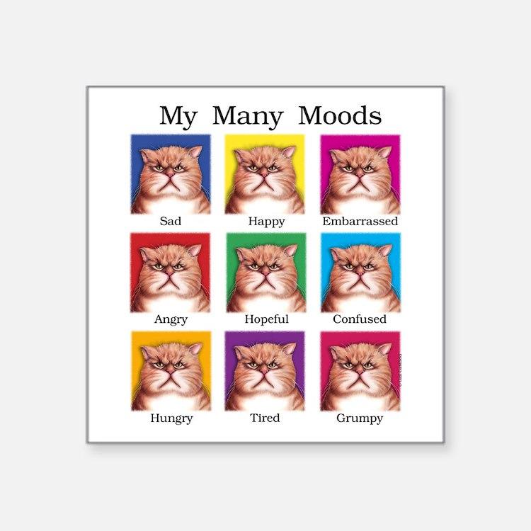 "Many Moods Square Sticker 3"" x 3"""
