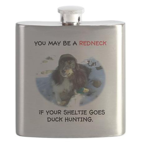 Redneck Sheltie Flask