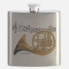 French Horn Music Flask
