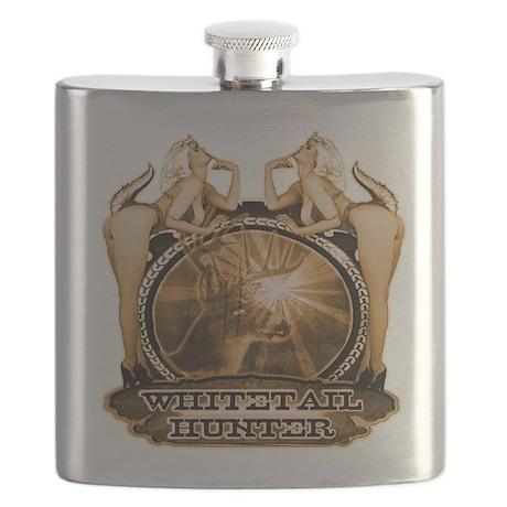 hunt naked Deer hunter gift t Flask