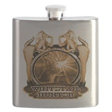 hunt naked Deer hunter gift t Flask